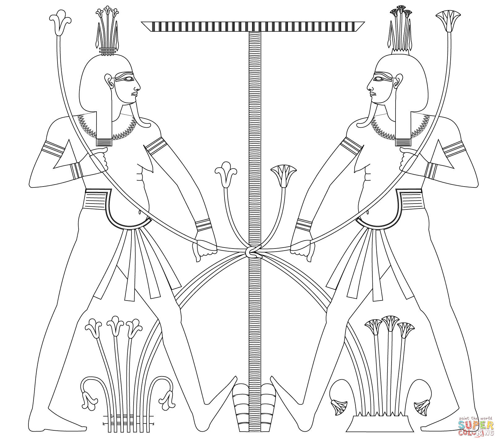 Cool Ancient Egypt Coloring Pages Free Design | colouring pages ...