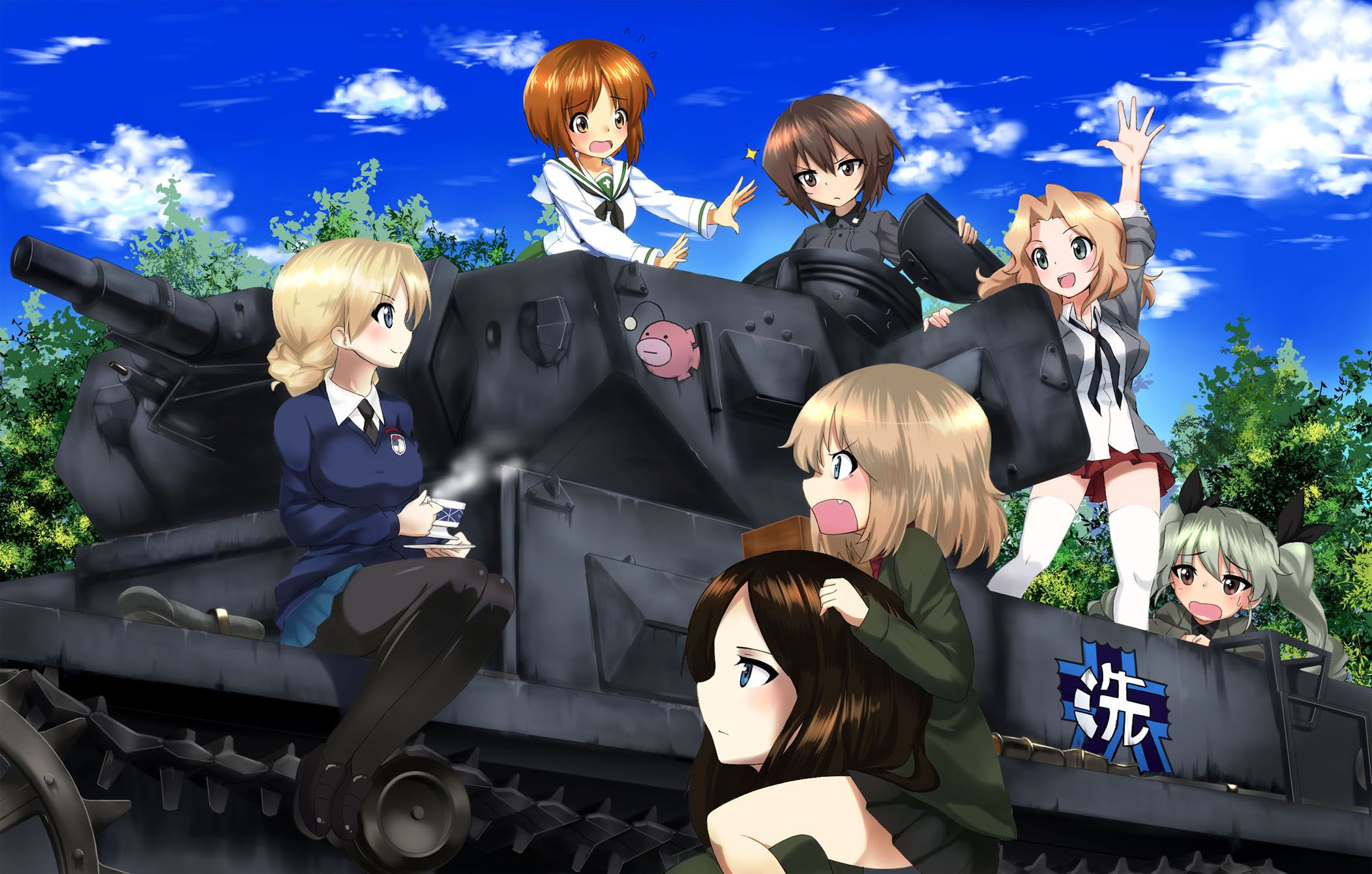 Anime Wallpapers Girls Und Panzer HD 4K Download For Mobile iPhone & PC