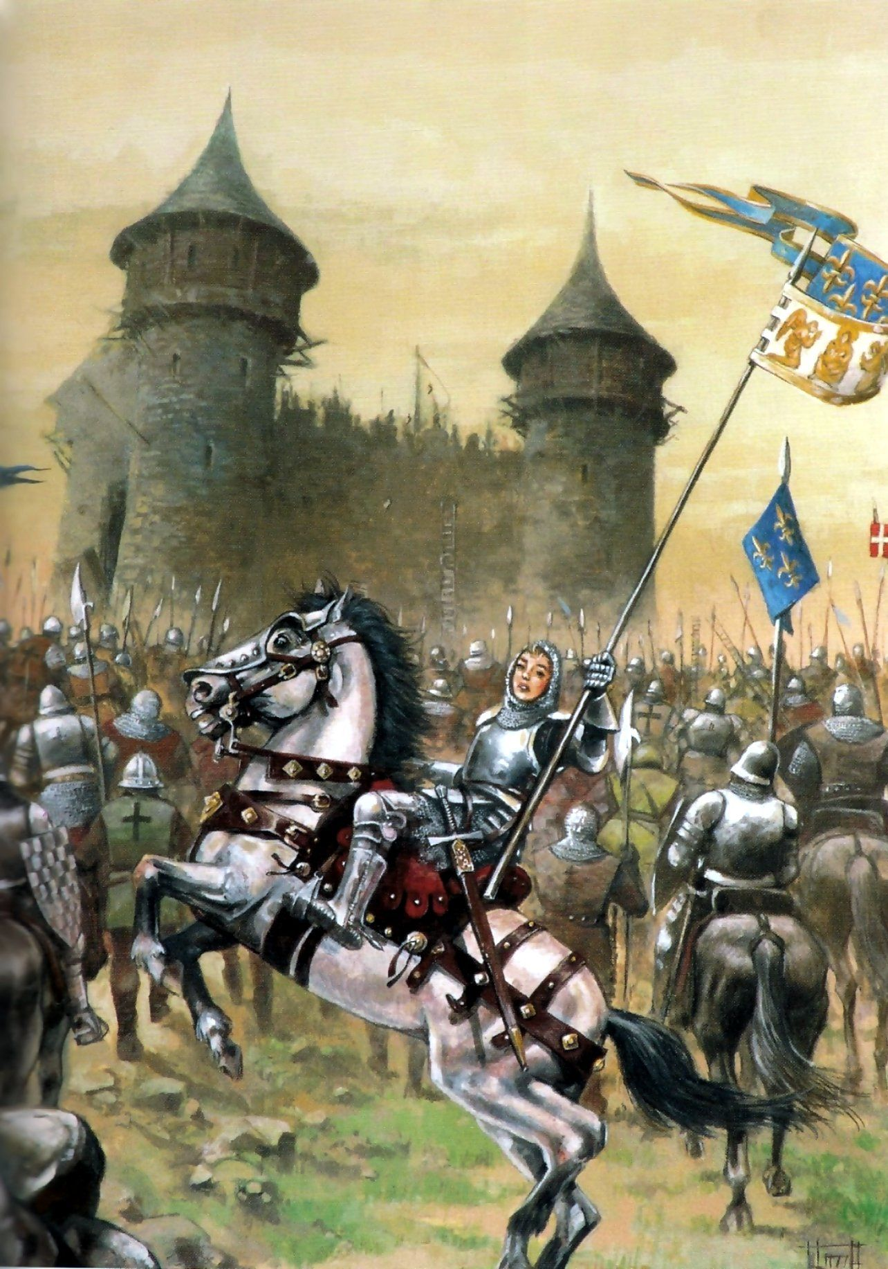 teutonic troops at the battle of grunwalde crusaders war art jeanne d arc and the french army besieging an english castle hundred years war