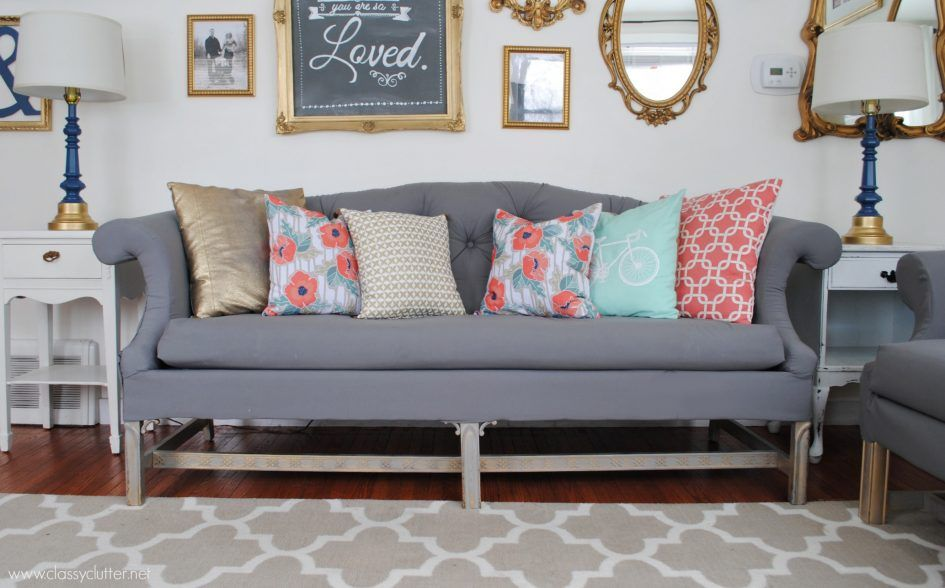 Furniture How To Upholster A Sofa With Stunning White Color And Able To  Radiate Beauty Into The Room With A Little Add To Some Accessories On The  S