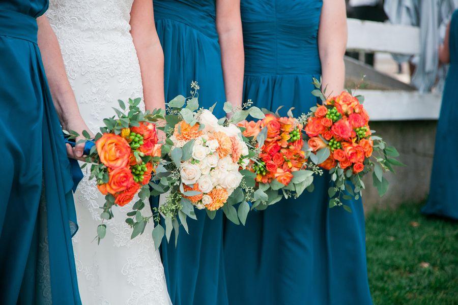 Teal Orange Crimson Rustic Fall Wedding At Legacy Hill Farm Photographer Eileen K Photography