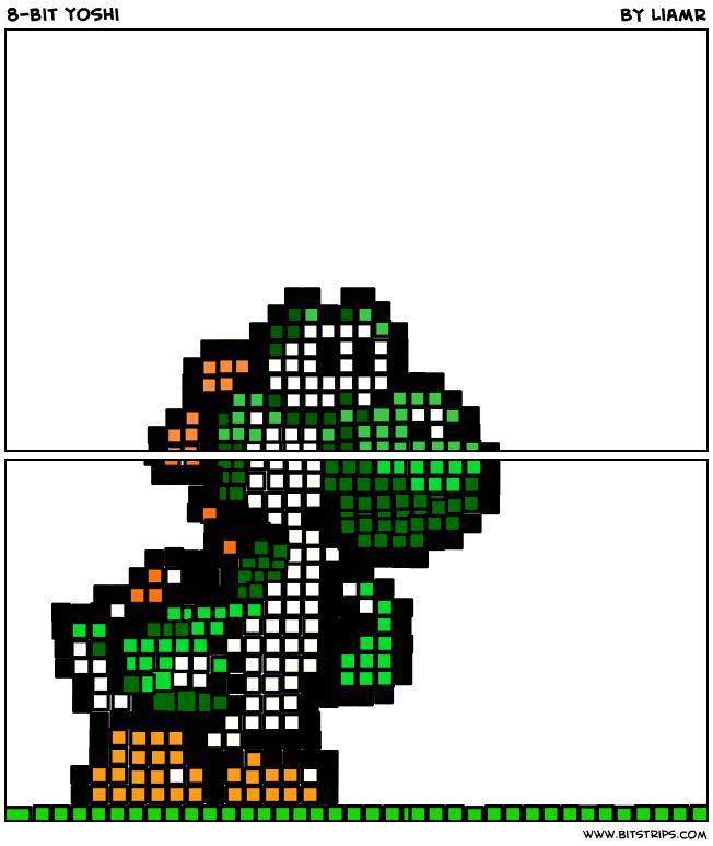8-bit yoshi | Crochet patterns & ideas | 8 bit, 8 bit art, Crochet ...