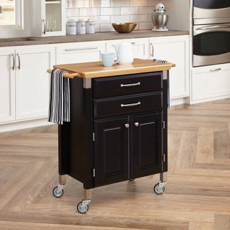 Dolly Madison Prep and Serve Kitchen Cart, Black | Kitchen ...