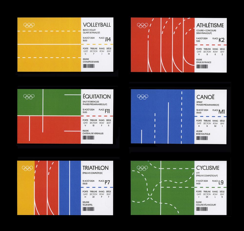 Paris 20 Olympic Games on Behance   Ticket design, Coupon design ...