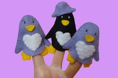 Free Patterns for Finger Puppets | Try for free - DIY Finger Puppet Felt Pattern -... | Craft Ideas