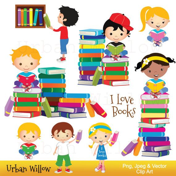 clip art school kids clip art books reading clipart cute library rh pinterest co uk Reading Words Clip Art Book Clip Art for Teachers