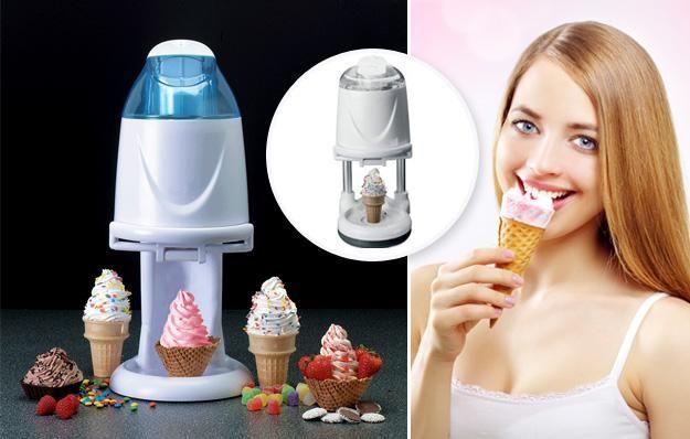 Devenez la reine des glaces et épatez votre entourage grâce à cette machine Ice Cream Tech Millenium pour créer des glaces à l'italienne, sorbets, yaourts glacés et glaces à seulement 49€ au lieu de 119€, soit 59% de remise !