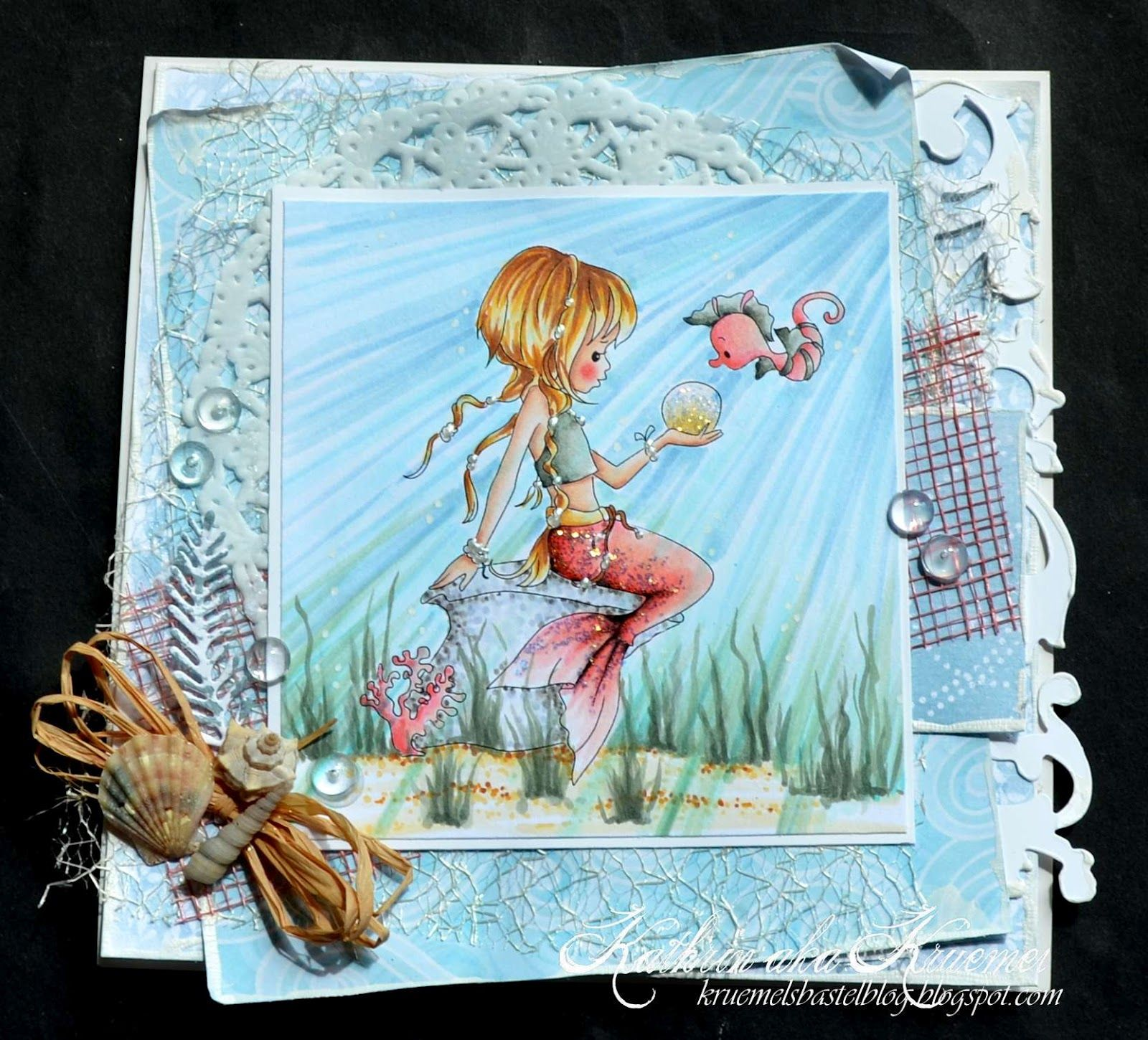 Great Coloring Water Tutorial For This Card! Here Is A