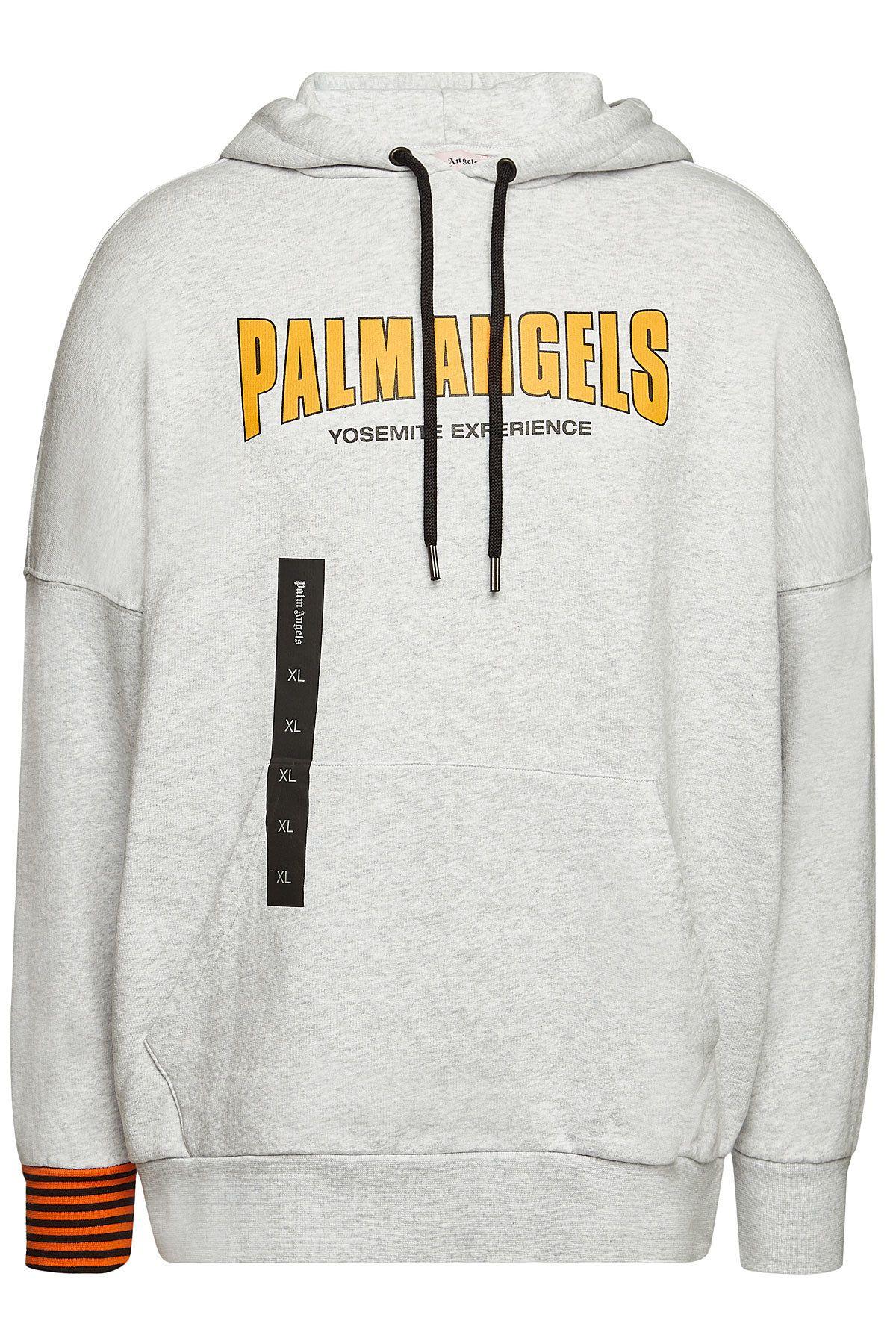 Palm Angels Vintage Logo Cotton Hoody Palmangels Cloth Hoodies Palm Angels Vintage Logo [ 1800 x 1200 Pixel ]