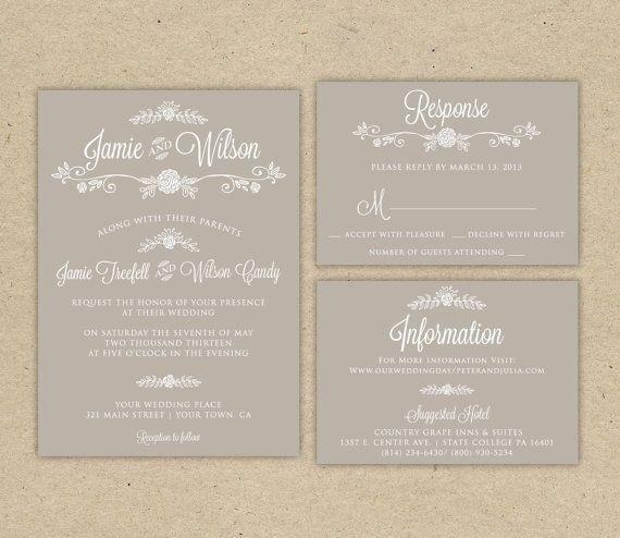 Diy unique wedding invitations templates wedding for Modern wedding invitations free samples