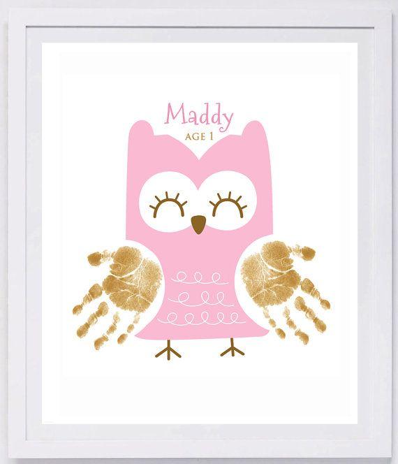 Owl Handprint Wall Art 406_paper  sc 1 st  Pinterest & Owl Handprint Wall Art 406_paper | Owl Walls and Footprints