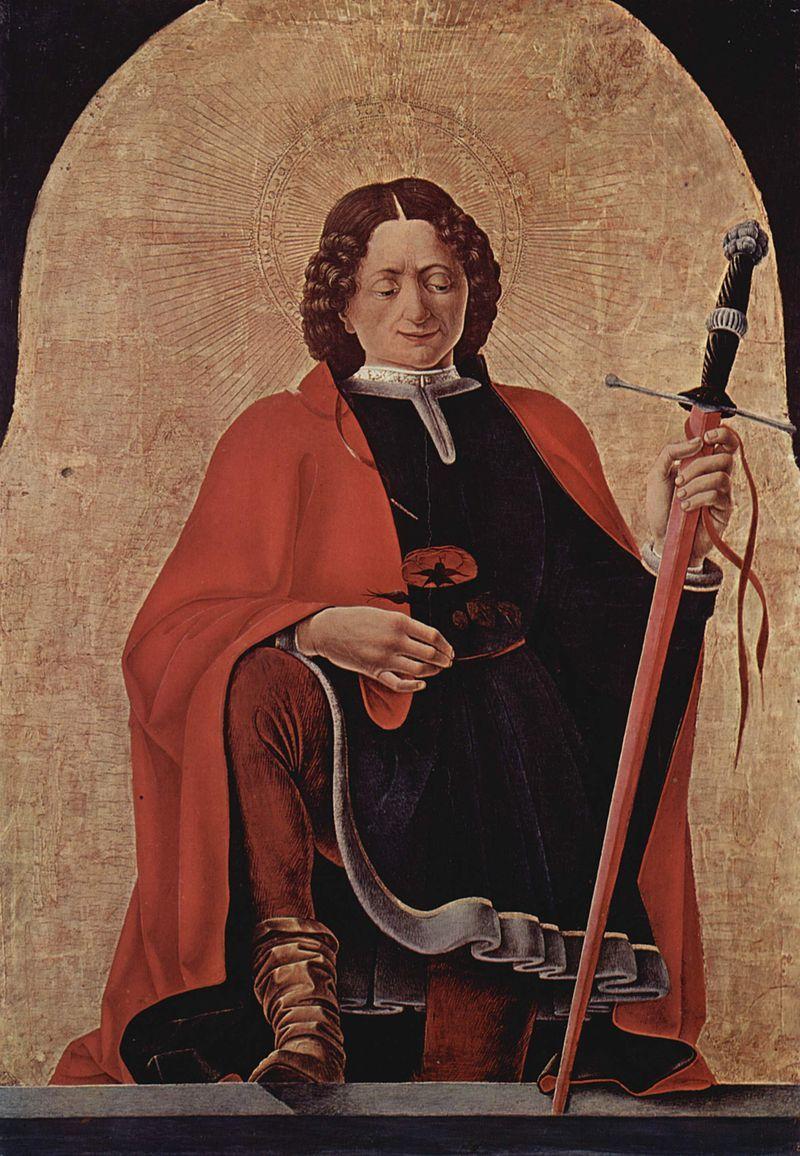 132. Francesco del Cossa - Polittico Griffoni - San Floriano - 1472-73 - National Gallery of Art, Washington