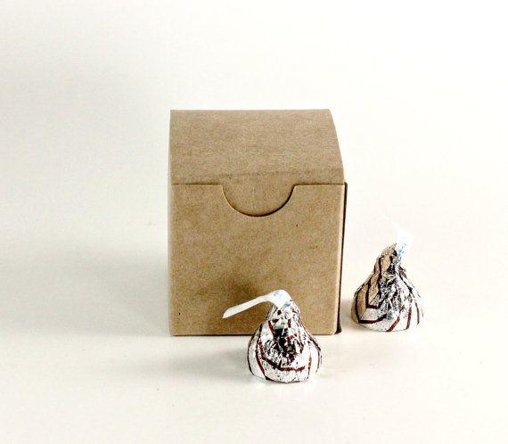 25 Wedding Favor Boxes Kraft Brown Box Paper Box by PBCSupplies, $7.00