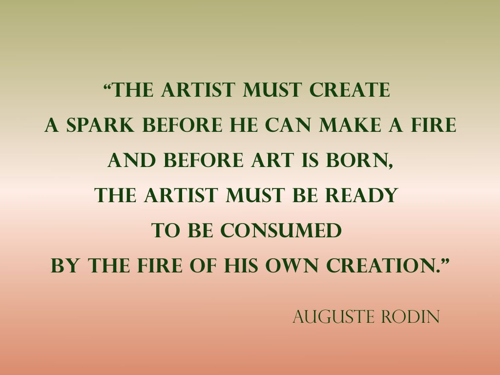 Auguste Rodin quote about artists