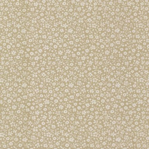 Small Flowers Brown Vintage Wallpaper   1950s Vintage Antique Wallpaper - I would probably like something like this (not sure if pink or tan would be best) in Maisie's room.