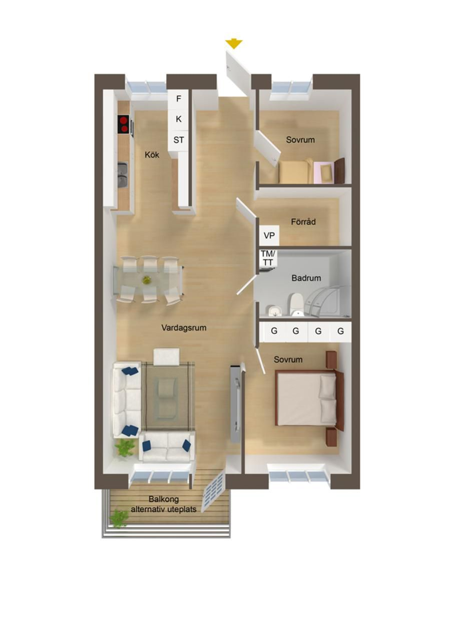 Bedroom Floor Plan Designer Magnificent Two Bedrooms Is Just Enough Space To Let You Daydream About Having Design Inspiration