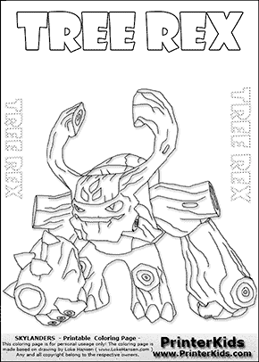 Skylanders Giant Tree Rex Letter Practice And Coloring Page Preview Coloring Pages Online Coloring Pages Free Online Coloring
