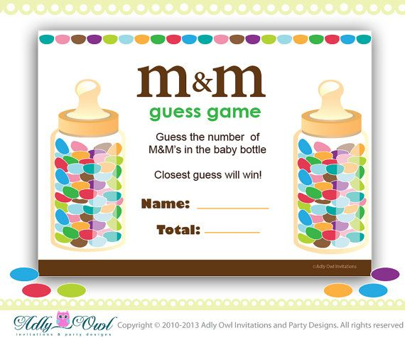 M Ms Baby Shower Game Printable Fun Baby Shower Games For Boy Or
