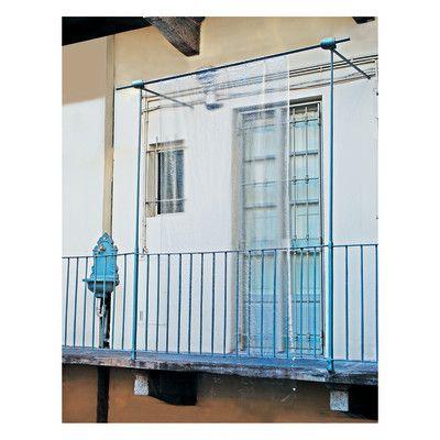 Tende Da Esterno Trasparenti Prezzi.Tenda Da Sole Ad Anelli Cristal Glass Trasparente 150 X 250