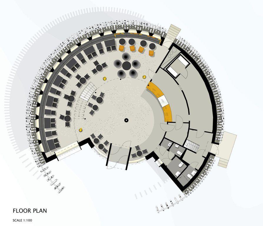 Circular Restaurant Plan Google Search Restaurant Plan Restaurant Architecture Restaurant Floor Plan