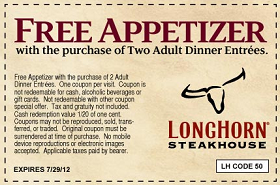 picture about Longhorns Printable Coupons named Pin by means of Hunt4Freebies upon Discount coupons and Promotions Longhorn