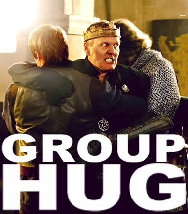 Uther= You can clearly see his hatred for sorcery matches his hatred of group hugs.