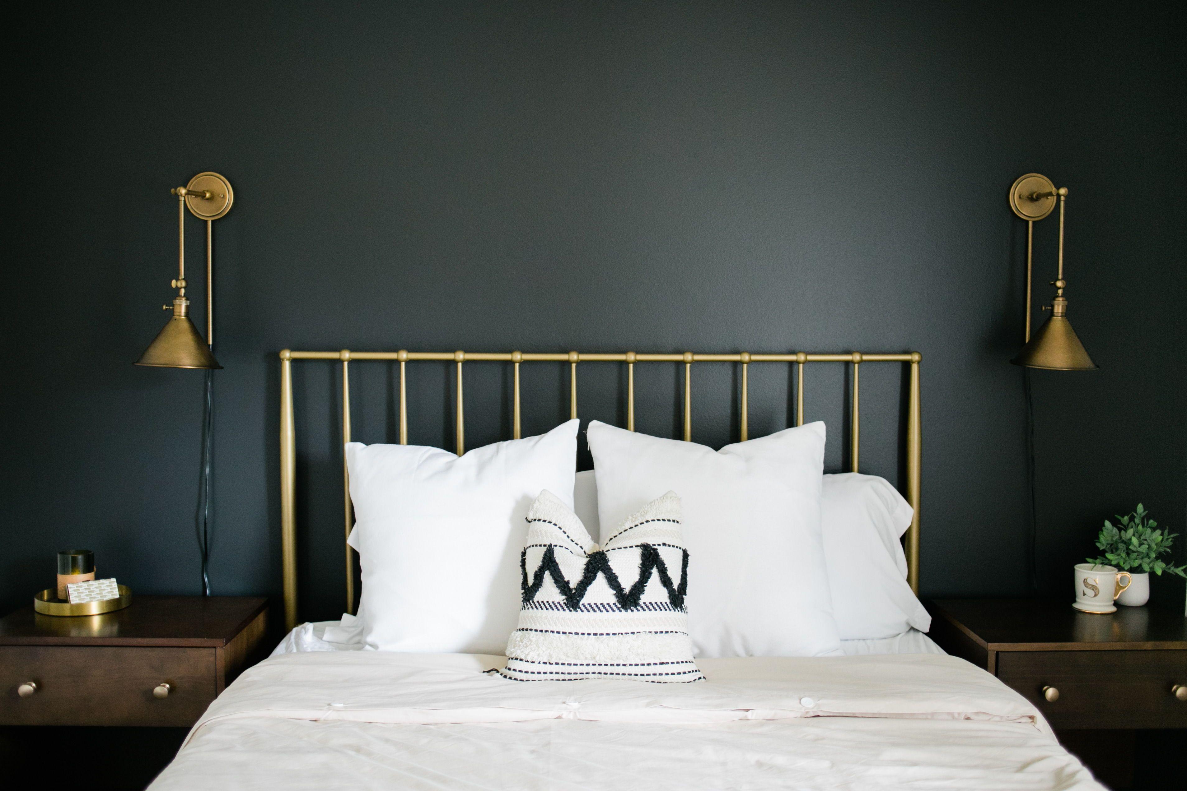Blackish Almost Black Paint Color Clare Black Accent Walls Black Walls Blue Master Bedroom