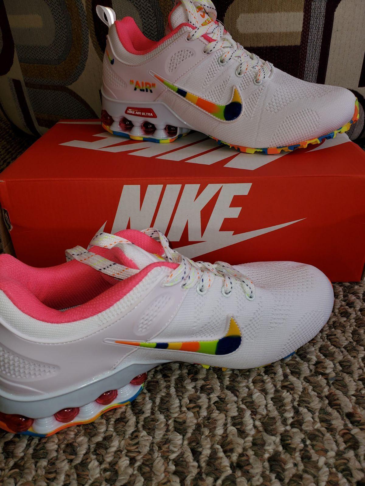 Rainbow nikes, Cute nike shoes