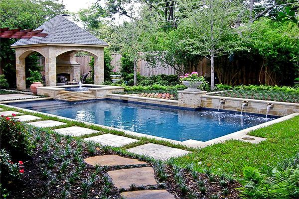 Swimming Pool Design Style Guide Pool Landscaping Backyard Pool Garden Pool