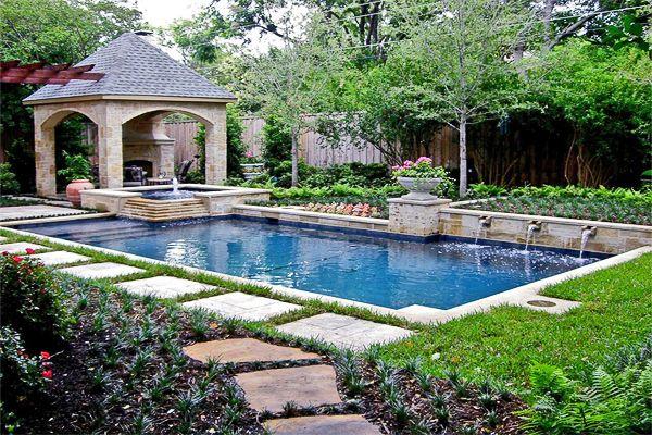 Swimming Pool Design Style Guide Backyard Pool Large Backyard Landscaping Pool Patio