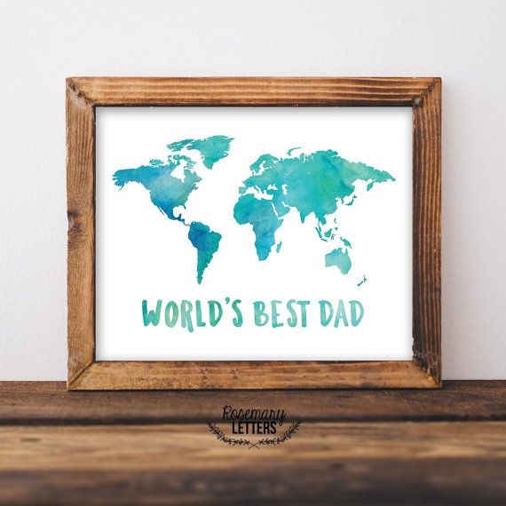 Worlds best dad world map prints gifts for dad fathers day gift worlds best dad world map prints gifts for dad fathers day gift 5x7 and 8x10 printable instant download gumiabroncs Gallery