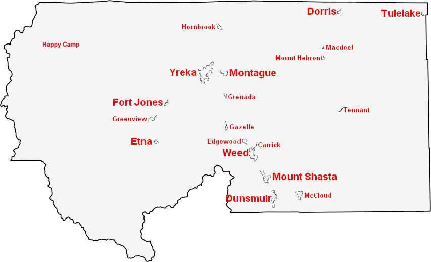 Mt Shasta California Map