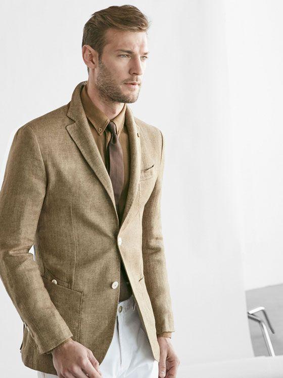 BEIGE LINEN BLAZER | Men's Casual Blazers | Pinterest | Linen ...