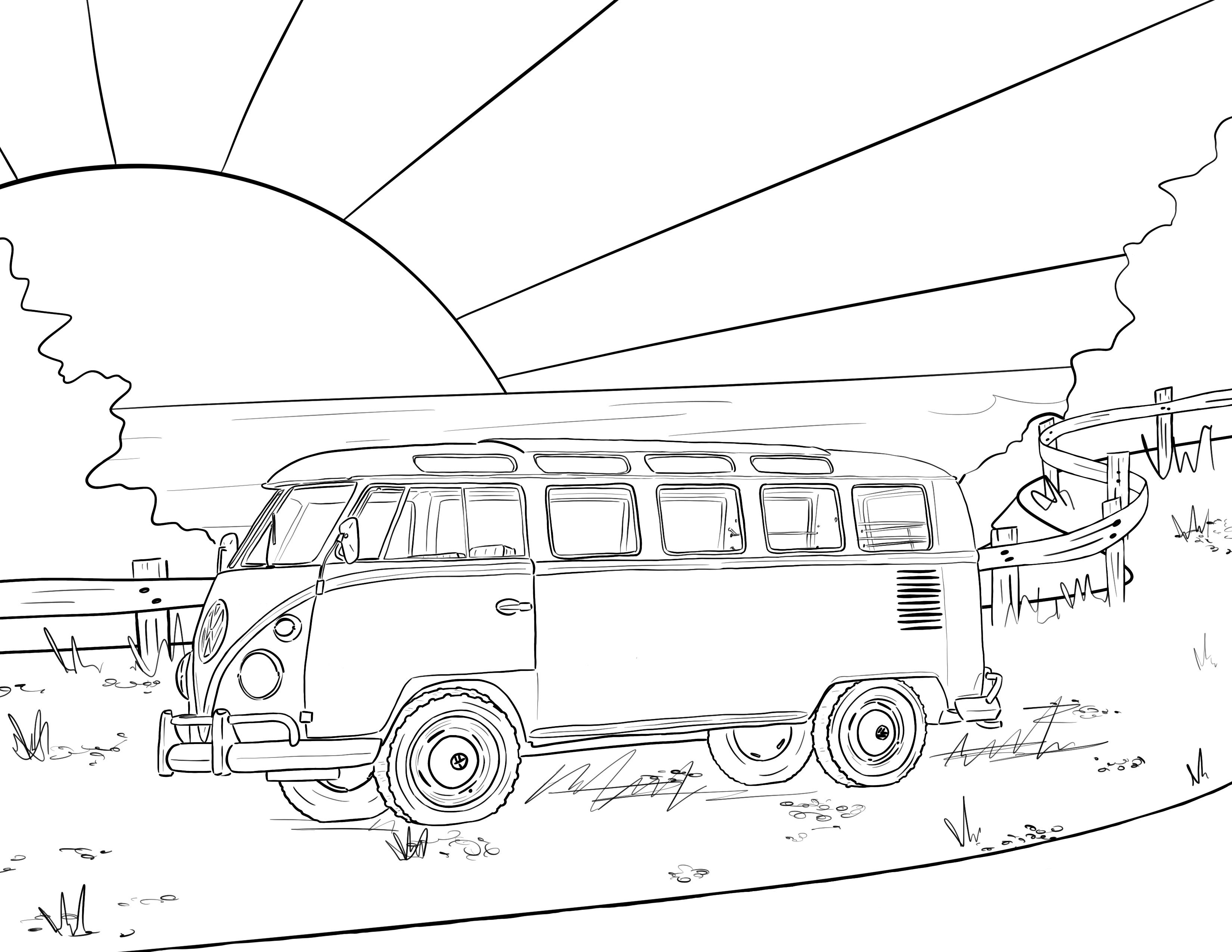 Maci Lane Coloring Page Free Download Coloring Pages Volkswagen Bus Art Bus Art