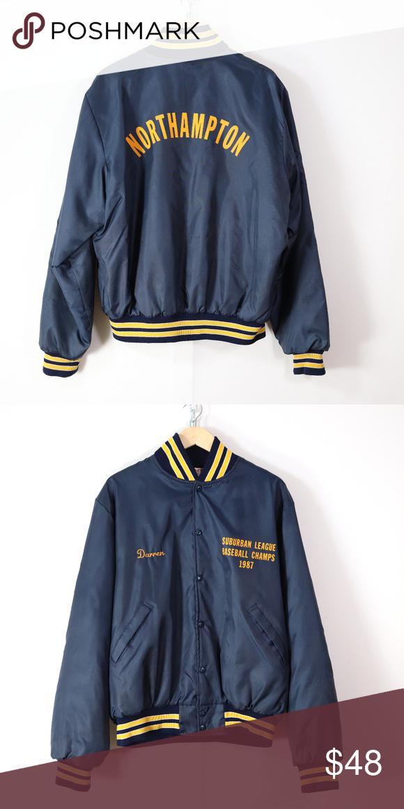 Vintage 80s Varsity Baseball Jacket L Xl Retro Baseball Varsity Jacket Varsity Jacket High School Japanese Fashion Street Casual