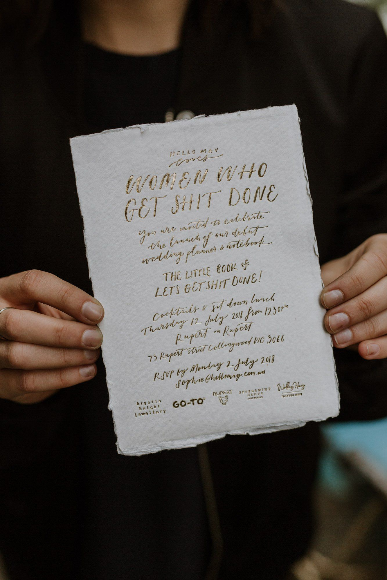 HELLO MAY WEDDING PLANNER Invitasjon