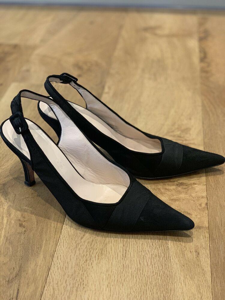 Hobbs Black Kitten Heel Sling Backs Size 5 5 Kitten Heels From Ebay Uk Kittenheels Heels 10 00 0 Bids End Date Black Kitten Heels Kitten Heels Heels