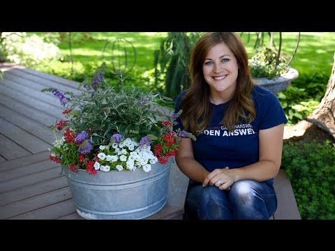 Planting In A Galvanized Container // Garden Answer   YouTube