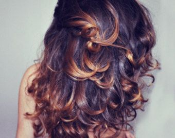 beautiful dark ombre, love that it\'s not top half one color bottom ...