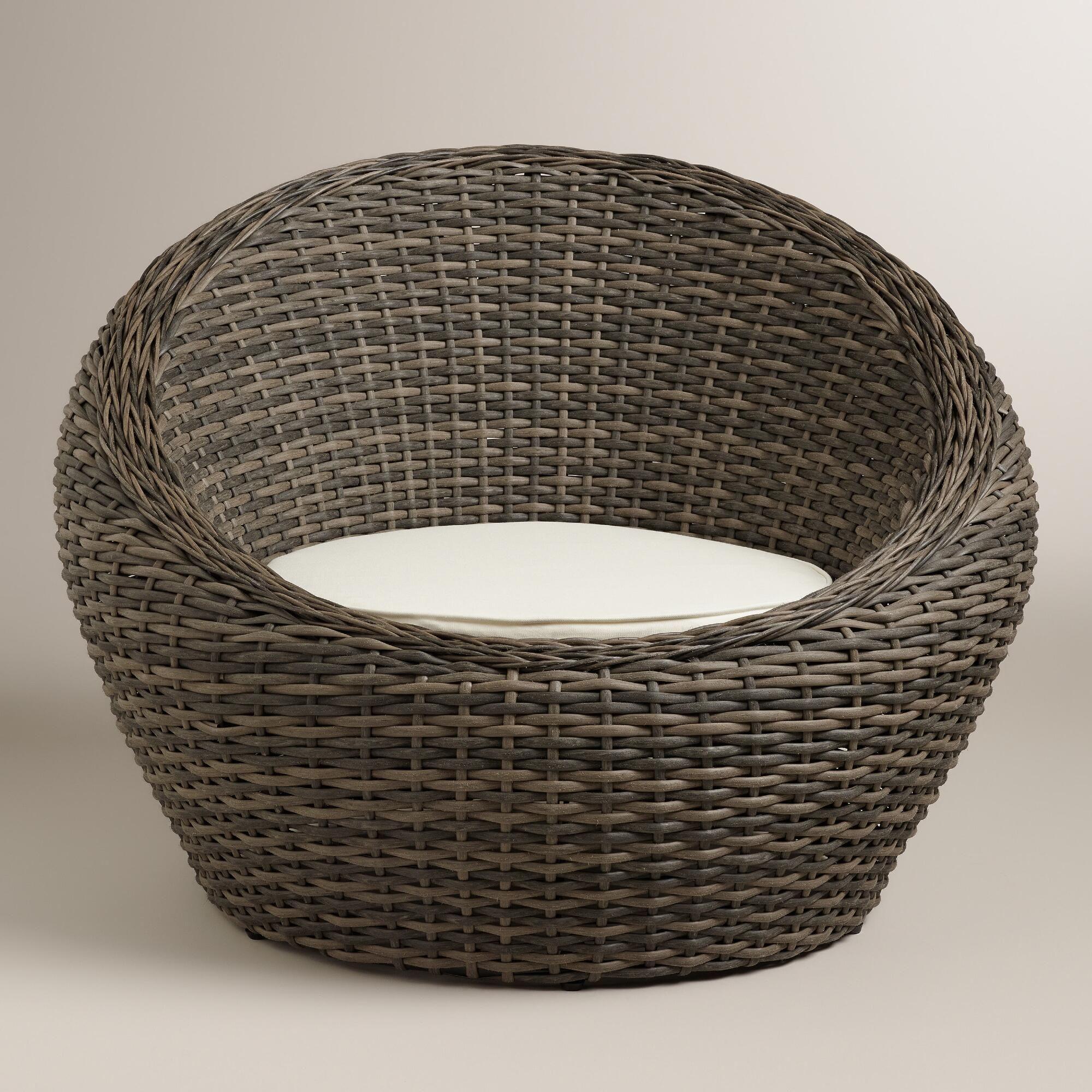 round wicker chairs outdoor