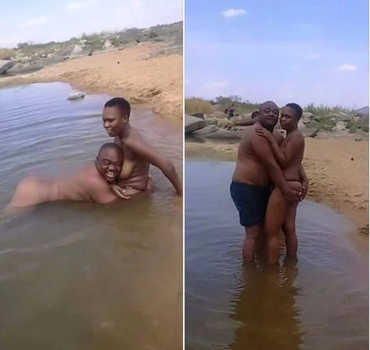 Kenyan lady nude in public