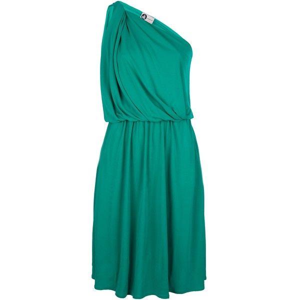LANVIN one-shoulder dress ($497) found on Polyvore