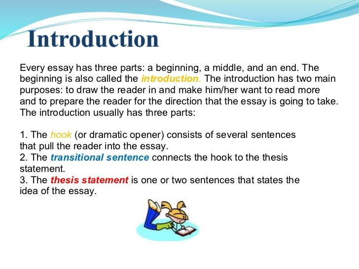 Every Essay Has Three Parts A Beginning A Middle And An End The Beginning Is Also Called The Introducti Essay Writing Introductory Paragraph Writing Power