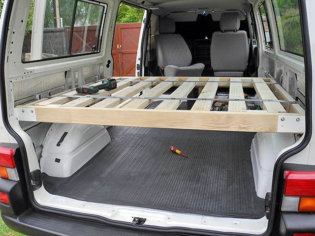 Ford Van Conversion: Making of the Bed | Van Bed Design Ideas ...