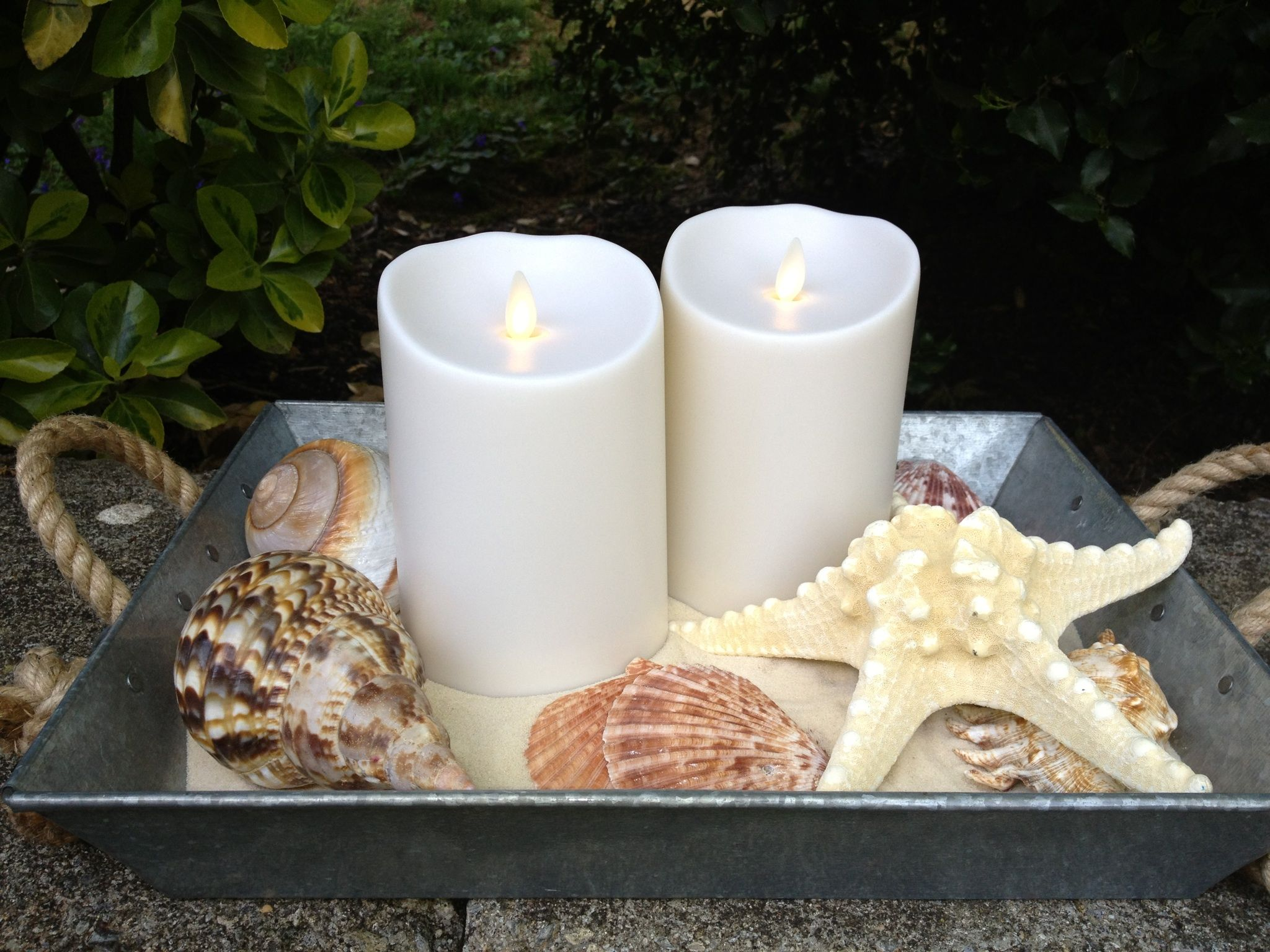 Pin By Michele Richardson On Ideas Candles Galvanized Tray
