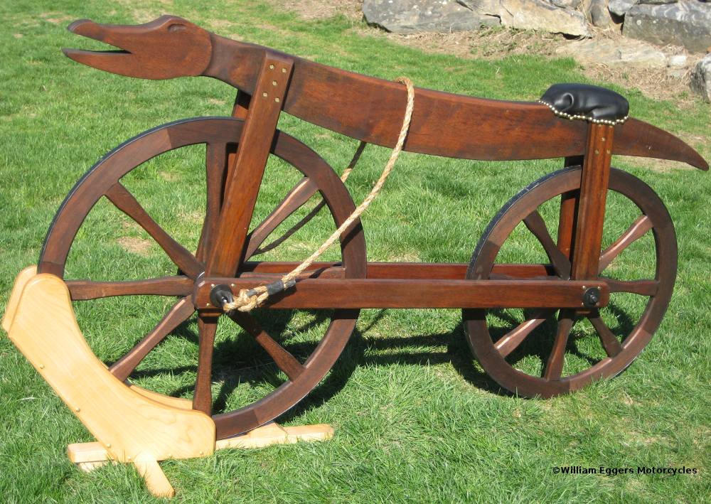 First bicycle ever made 1790 celerifere replica by bill for Making bicycle wheels