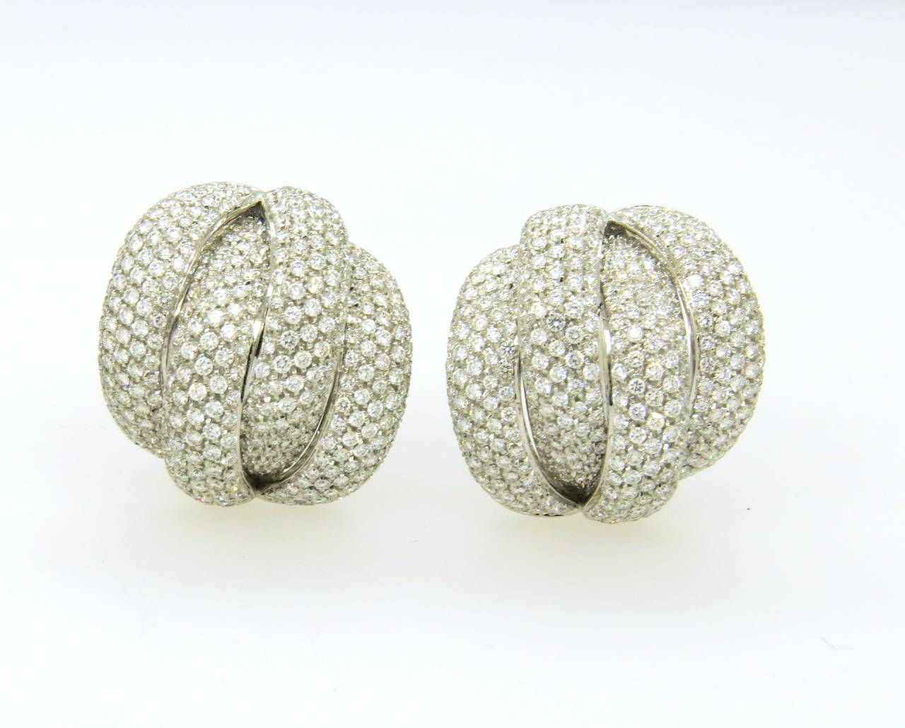 Impressive Leo Pizzo Diamond Gold Earrings image 2