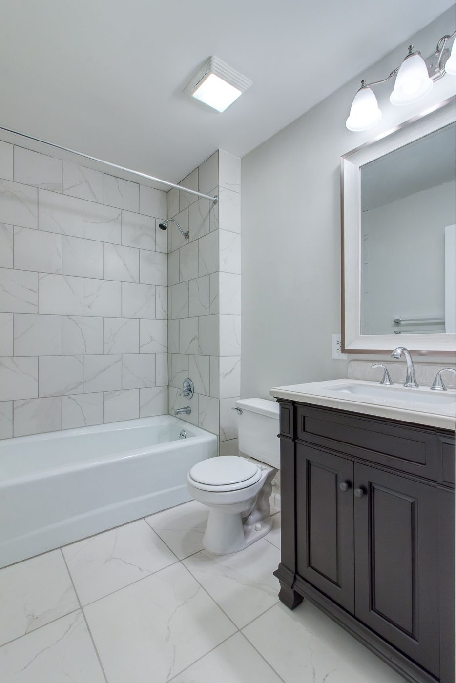 Bathroom remodel by Suzanne D of Raleigh NC Renovated a rental