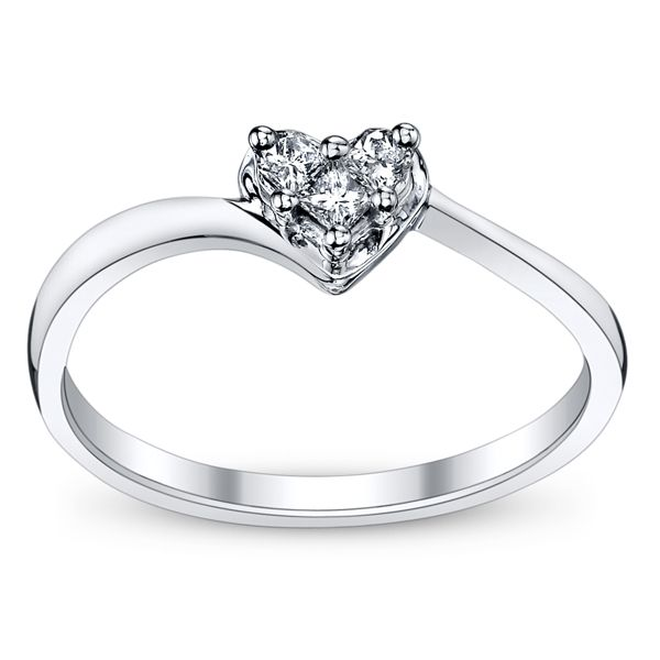 10k White Gold Diamond Promise Ring Kay Jewelers Promise Rings Diamond Promise Rings Promise Rings