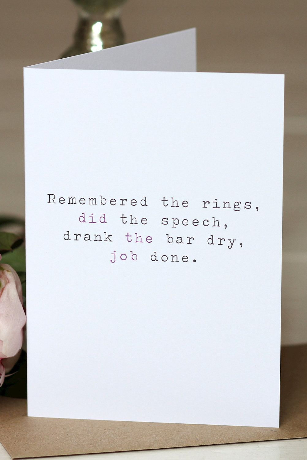 Wedding Thank You Card Remembered The Rings 2 50 Via Etsy